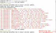 pod update 出现dependency is not used in any concrete target